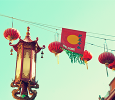 Lanterns over Chinatown