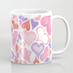 Watercolor hearts mug