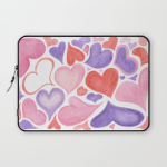 Watercolor hearts laptop sleeve